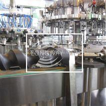 异型玻璃瓶全自动三旋盖果汁热灌装机