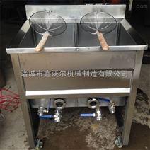 鸡腿鸡架自动控温油炸机 鸭腿燃气油炸设备