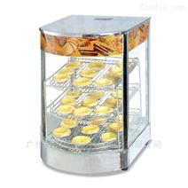 面包汉堡蛋挞机熟食弧度保温陈列展示机柜