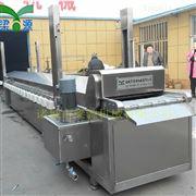 全自动油炸设备 小型导热油肉排油炸机械