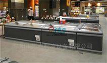 高档速冻水饺展示冷柜,超市豪华组合岛柜