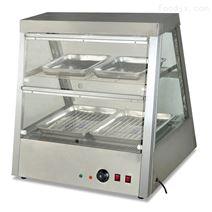 不锈钢熟食玻璃双层陈列保温柜