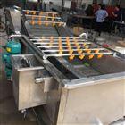 沙丁鱼气泡喷淋清洗机 海鲜浸泡清洗设备