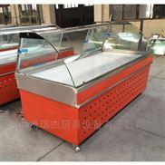 ruijie/瑞杰直冷熟食柜 ,前拉門式前翻蓋鹵菜小菜保鮮柜