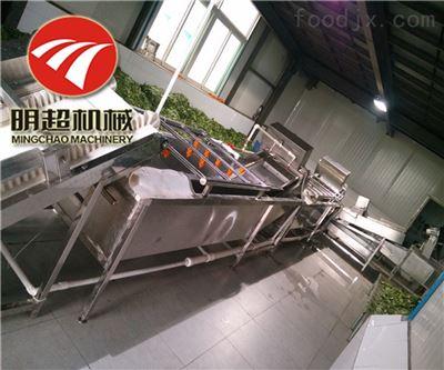 QZM-6荠菜切割加工设备清洗烘干