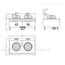 中式双头蒸炉