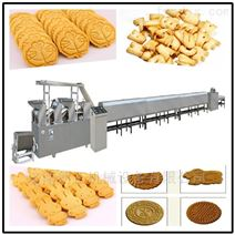 饼干生产设备小型韧性酥性威化饼干流水线