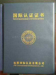 國際認證證書
