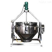 500新款带搅拌可倾斜自动出料夹层锅