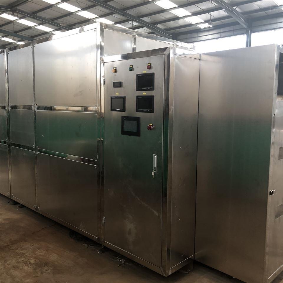 烟台对虾烘烤烘焙隧道炉,微波对虾 烘焙机器