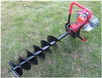 厂家直销新款立式地钻多用植树钻坑机 操作
