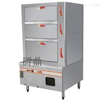 不锈钢商用燃气三门海鲜蒸柜
