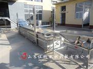 南京网带式炸螃蟹油炸流水线