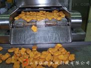 连续式炸鸡排油炸机生产线