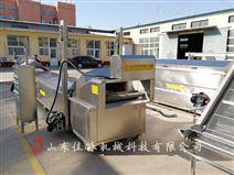 哈尔滨锅包肉油炸流水线连续式生产