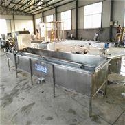 黄花菜蒸煮流程蒸汽加热,金针叶杀青机自动循环