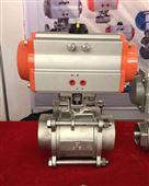 Q611F-16P气动二片式内螺纹球阀