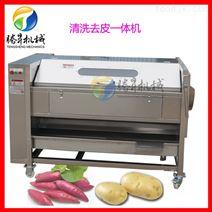 厂家直销土豆清洗去皮机 胡萝卜莲藕清洗机