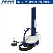 自走式胶膜裹膜机包装机器人缠绕膜裹包机