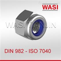 DIN982尼龙嵌件锁紧螺母高型ISO7040