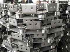 P100节距100单侧双孔弯板不锈钢链条