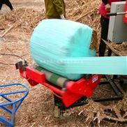 内蒙牧草青贮打捆机 保鲜膜缠绕青储机